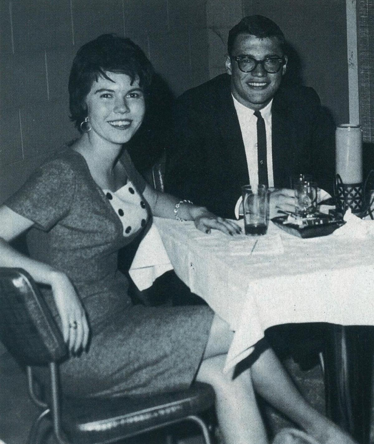 1961: Jo Harvey Koontz and Terry Allen at the Palm Club, shortly before they were married.