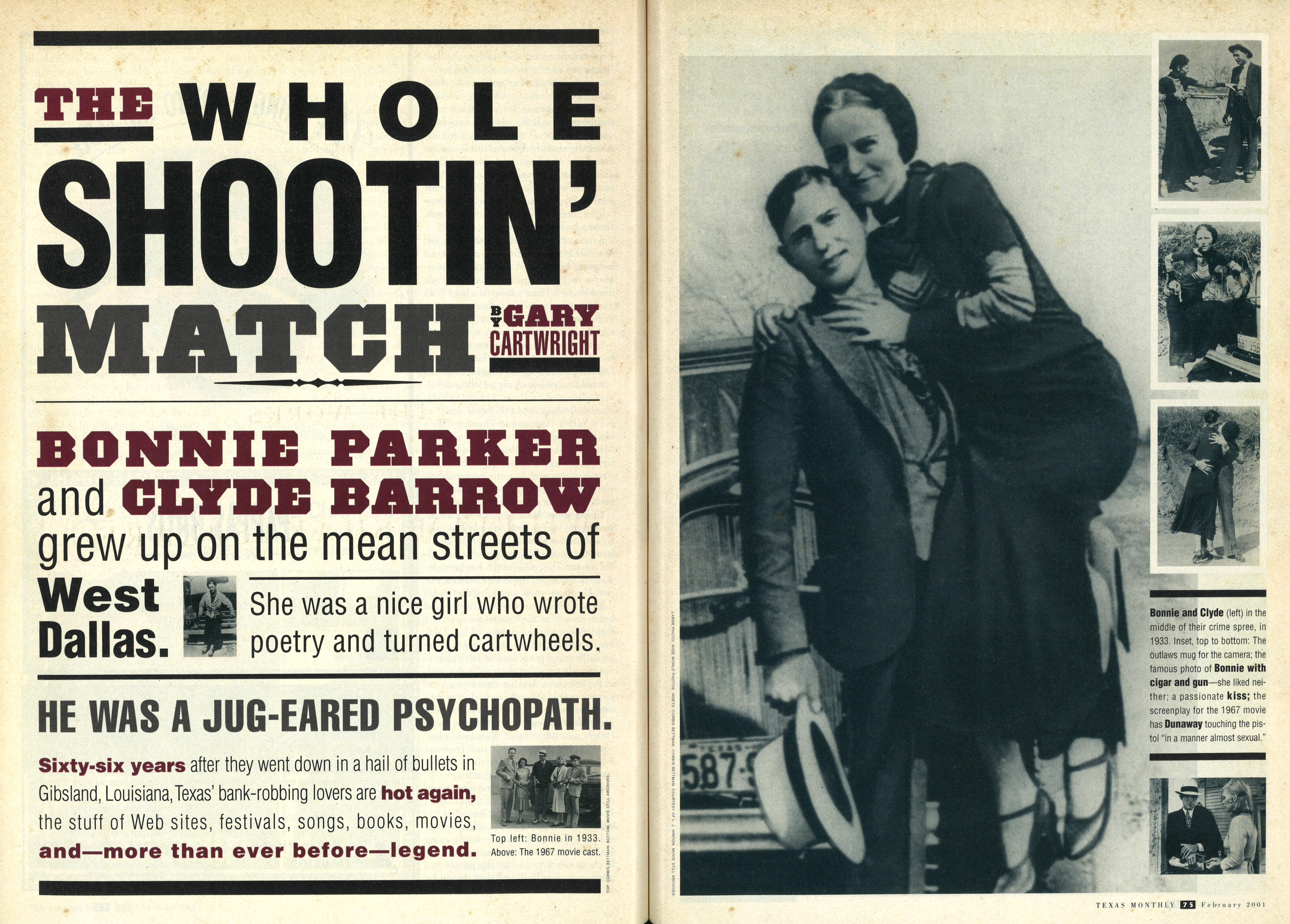 the whole shootin match bonne and clyde in the middle of their crime spree in 1933 inset bonnie