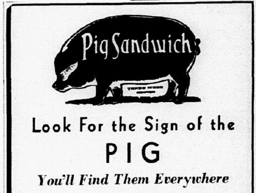 Pig Stand sign of the pig