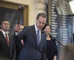 Speaker Joe Straus on the first day of the Eighty-fifth Legislature.