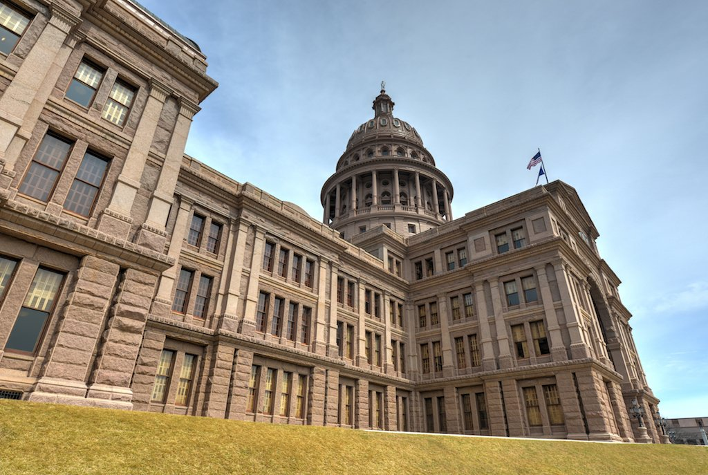 The Texas State Capitol Building in downtown Austin.